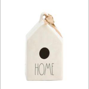 NWT Rae Dunn Home Birdhouse with burlap detail